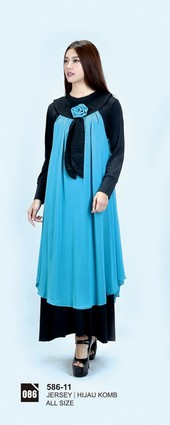 Long Dress Azzurra 586-11