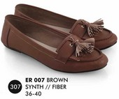 Flat shoes Coklat Everflow ER 007