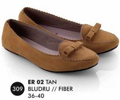 Flat shoes Tan Bludru Everflow ER 02