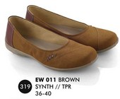 Flat shoes Coklat Everflow EW 011