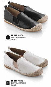 Flat shoes Hitam, Putih Everflow ER 019