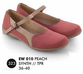 Flat shoes Peach Everflow EW 010
