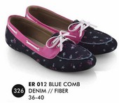 Flat shoes Biru Denim Everflow ER 012