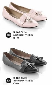 Flat shoes Cream, Hitam Everflow ER 008