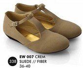 Flat shoes Krem Suede Everflow EW 007