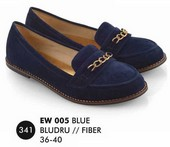 Flat shoes Biru Bludru Everflow EW 005