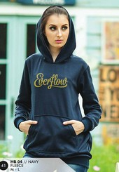 Sweater Fleece Wanita Navy Everflow HB 04