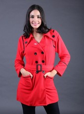 Sweater Wanita Merah Garsel Fashion FEN 002
