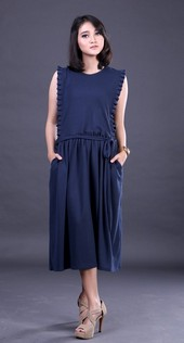 Dress Biru Garsel Fashion FER 005