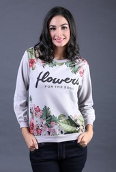 Sweater Wanita Abu Garsel Fashion FIZ 006