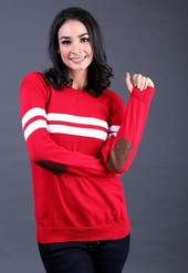 Sweater Wanita Merah Garsel Fashion FTN 008