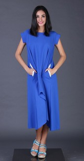 Dress Biru Garsel Fashion FYT 008