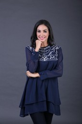 Dress Biru Garsel Fashion IMS 4261